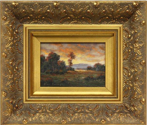 2006: Sunset, painting, Hartwig