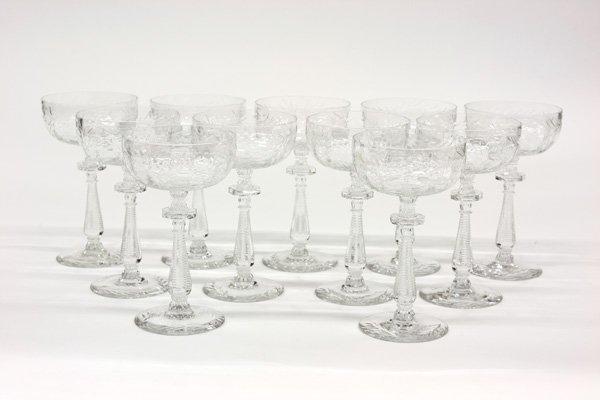 2009: Crystal wine glasses