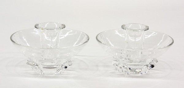 2010: Steuben art glass candle holders