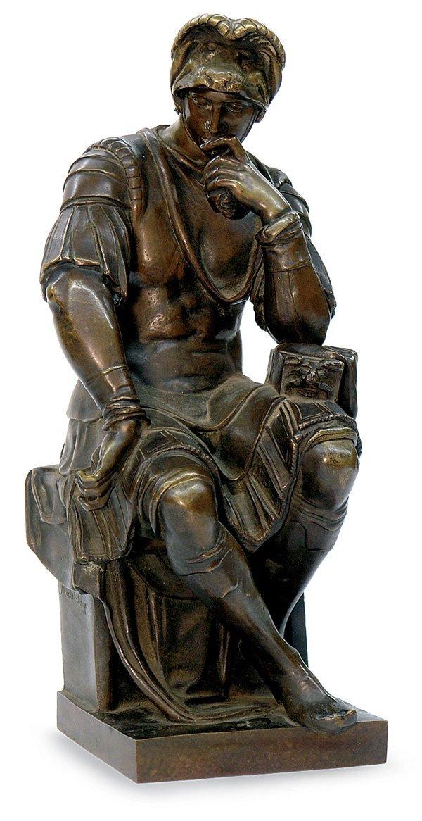 2022: bronze figure Lorenzo de Medici