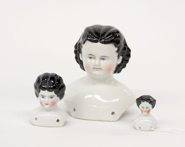 20: Victorian china head dolls