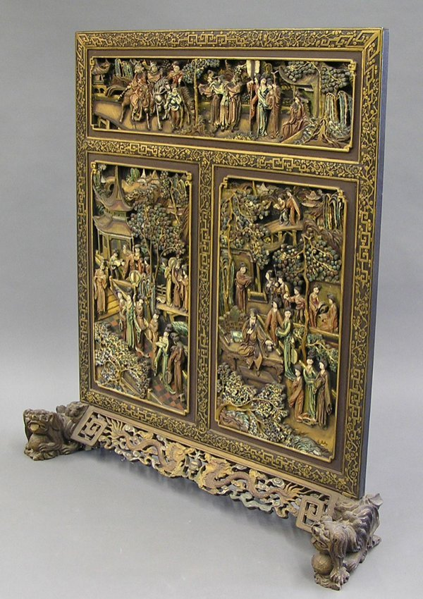103: Chinese Carved Wood Screen