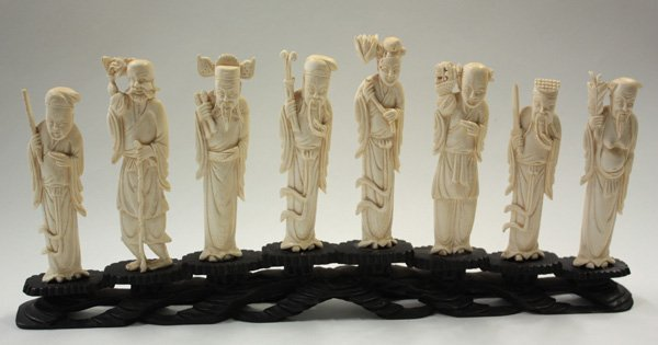 139: Chinese Ivory Carving, Eight Immortals