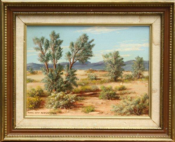 461: painting, Karl Weidhofer, Desert