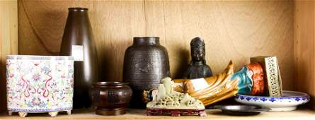 Shelf of Chinese decorative arts