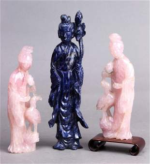 (Lot of 3) Three Chinese hardstone carvings