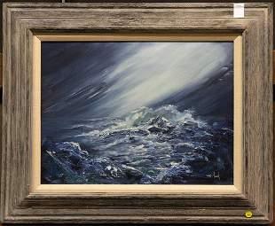 Van Hook oil on canvas, seascape