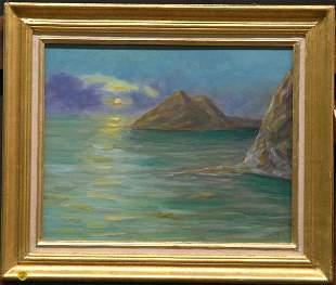 Owen seascape, oil on canvas