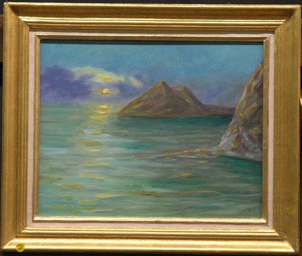 4001: Owen seascape, oil on canvas