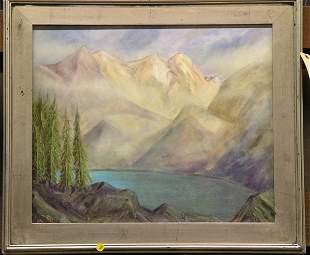 Owen landscape, oil on canvas