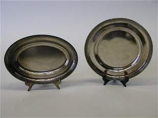 Cunard silverplate platters