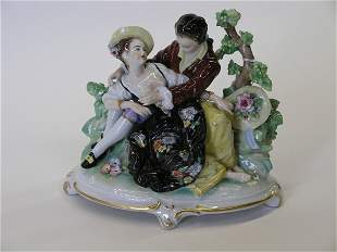 Continental porcelain figural of lovers