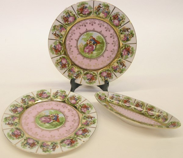 4021: Royal Vienna style platters and celery