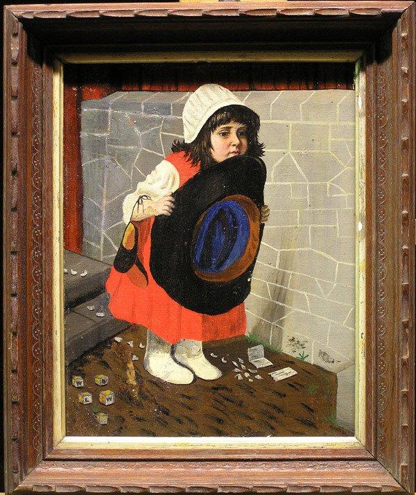 4271: 2 Framed oils, Robert McFarren, Dutch Girl