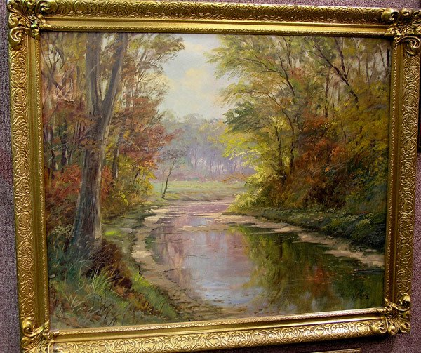 4329: Oil Painting, signed H. Clyde