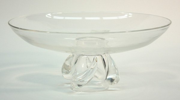 6017: Steuben glass footed bowl