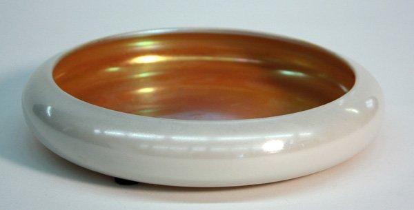6021: Steuben cased glass low bowl aurene