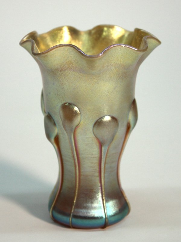 6023: Tiffany Favrile gold aurene art nouveau vase