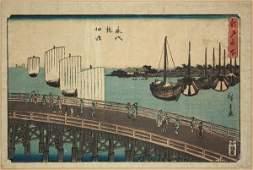 6488 Two Japanese Ukiyoe Woodblock Prints Hiroshige