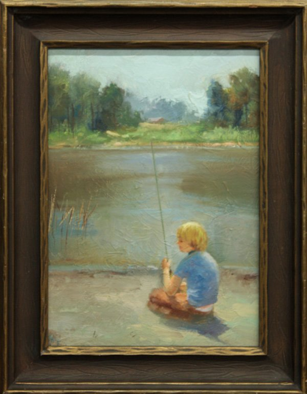 4000: painting, Vernon Kerr, Boy Fishing