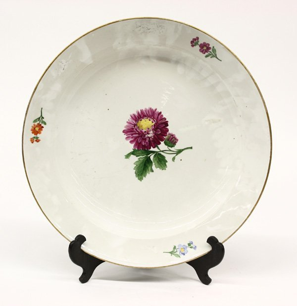 4013: Meissen hand painted porcelain charger