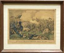 4478 Lithograph Currier Ives Battle Pea Ridge Arkansas