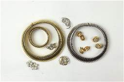 A group of costume jewelry, including Trifari