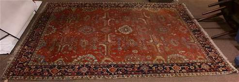 An antique Persian Serapi carpet