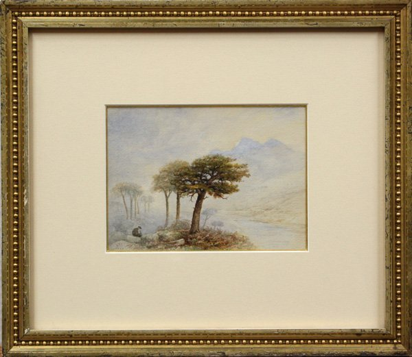 2004: watercolor, Landscape, trees