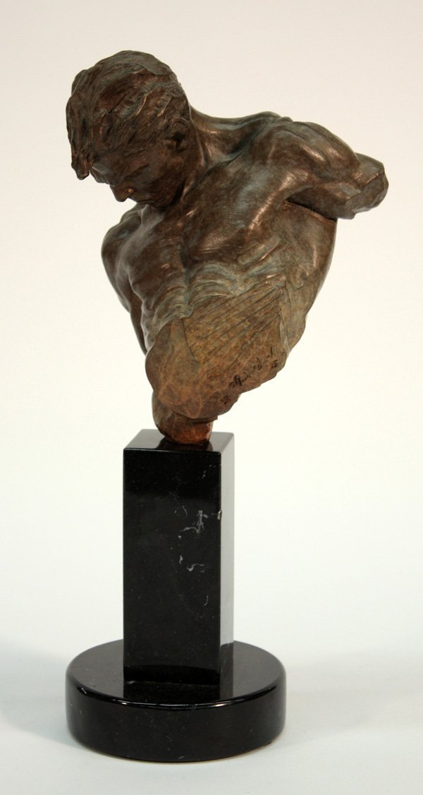 2012: Richard MacDonald bronze sculpture ''The Gymnast'