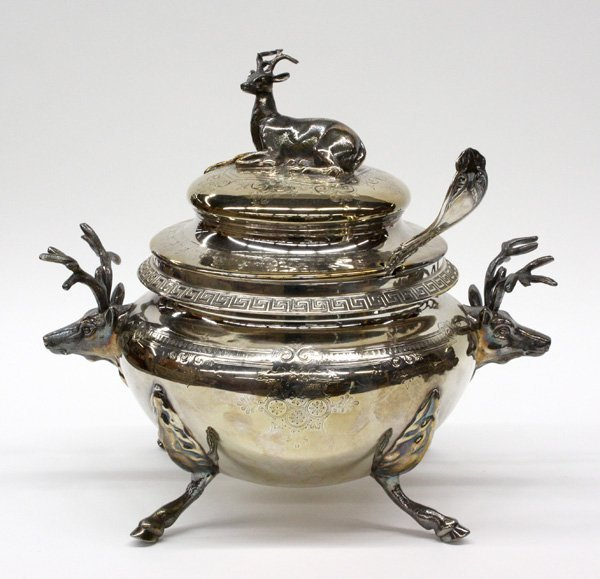2016: Aesthetic Movement figural silverplate tureen