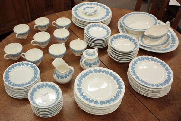 2151: Wedgwood Embossed Queen's Ware table service