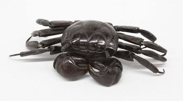 2473: Japanese Bronze Articulated Crab, Meiji Period