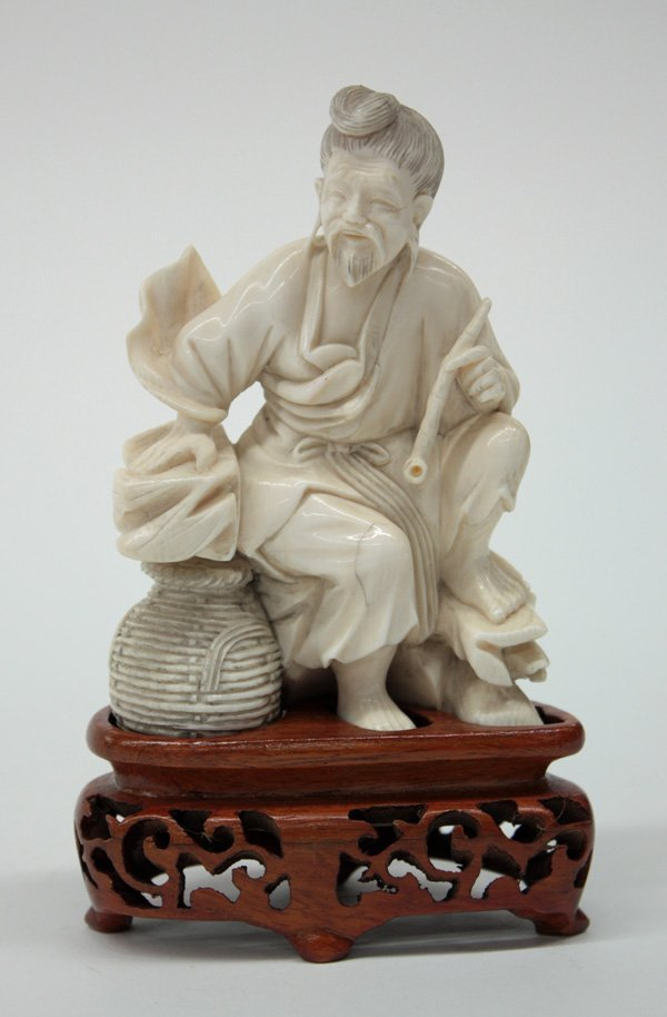 2485: Chinese Ivory Figural Carving