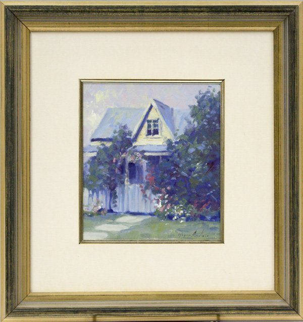 1: Painting, by Wayne Sinclair, View of a House