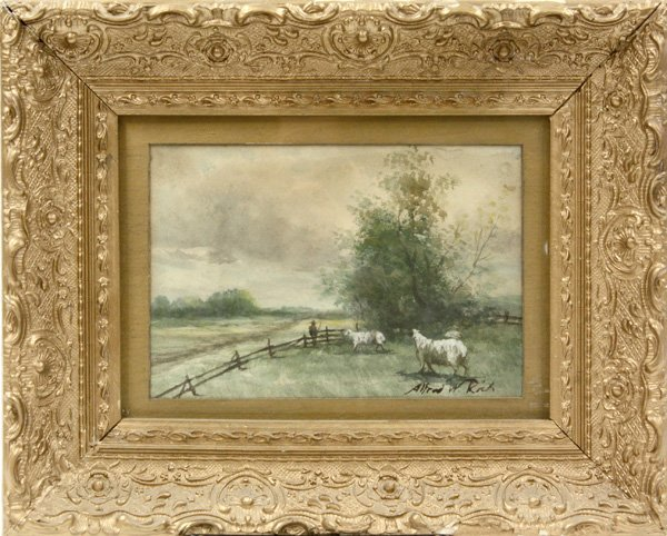 5: Watercolor, by Alfred William Rich, Landscape
