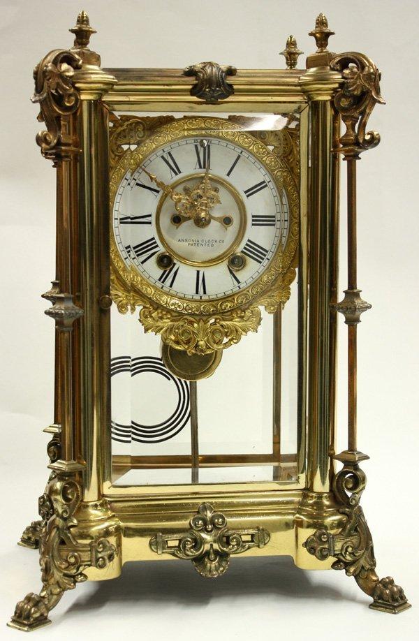 6003: Ansonia Clock Co. crystal regulator clock