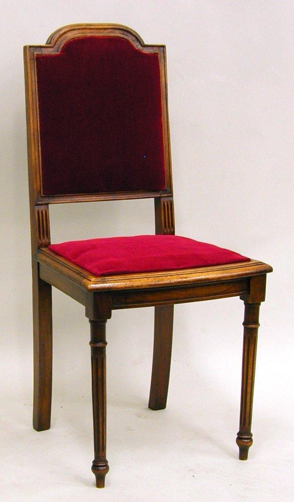 6007: Louis XVI style velvet upholstered side chairs