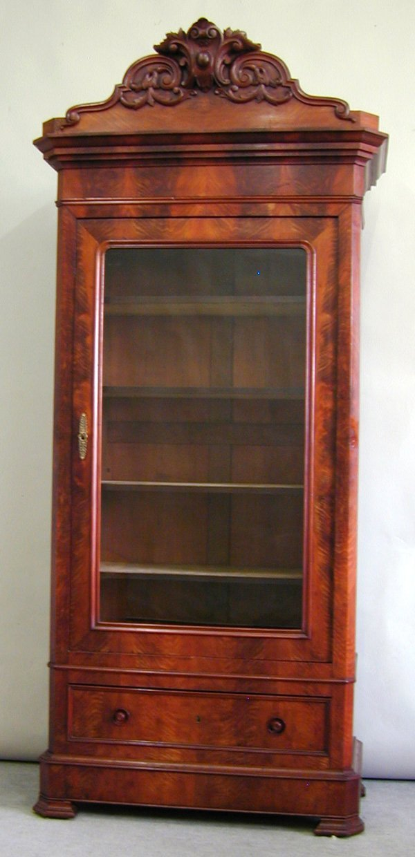 6008: Louis Philippe mahogany display cabinet