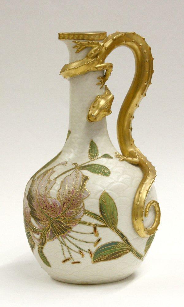 6009: Royal Worcester dragon-handle ewer