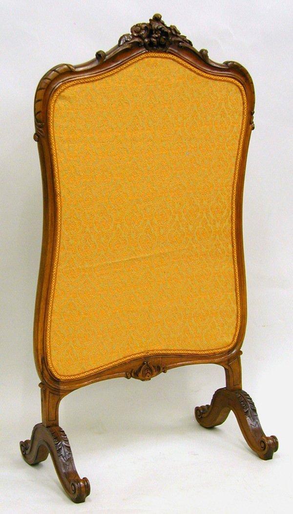 6020: Louis XV style walnut firescreen