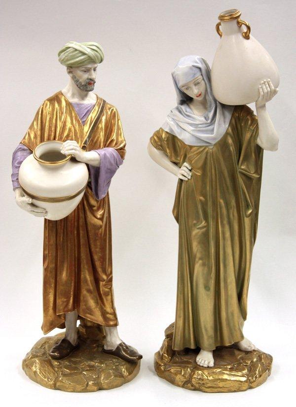 6025: 2 Royal Worcester figures