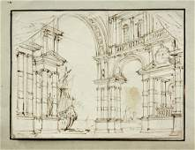 6091: drawings, Architectural Studies manner of Piranes