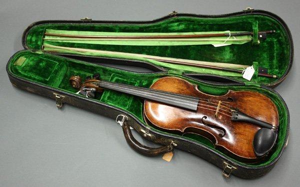 6507: violin, bearing label of Mathias Thir - 8