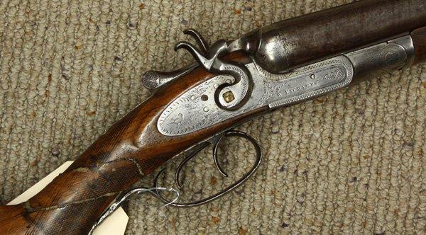 6715: W. Richards 12 gauge shotgun circa 1860 - 2
