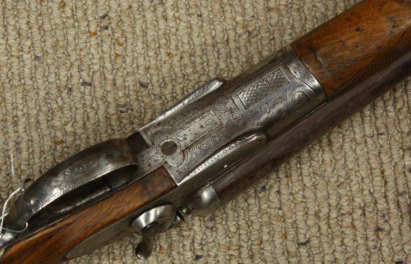 6715: W. Richards 12 gauge shotgun circa 1860 - 3