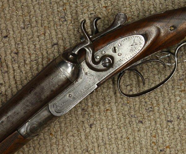 6715: W. Richards 12 gauge shotgun circa 1860 - 4