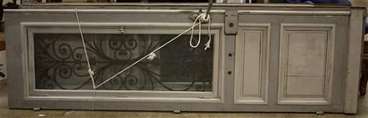 4343: Monumental pair of French entryway doors,