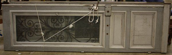 Monumental pair of French entryway doors,
