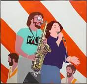 4385: Painting, Edna Glaubman, Musicians